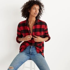 Madewell • Flannel Oversized Ex-Boyfriend Shirt